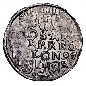 Zygmunt III Waza, trojak 1597, Poznań - rzadszy, SIG 3