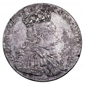 August III Sas, ort 1754 EC, Lipsk - buldogowate popiersie