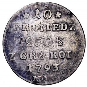 Stanisław Poniatowski, 10 groszy 1793 MV - ładne