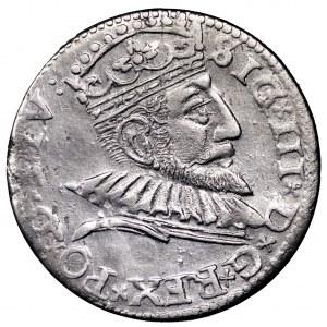 Zygmunt III Waza, trojak 1593, Ryga - ładny
