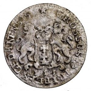 August III Sas, trojak 1755, Gdańsk - rzymska 3