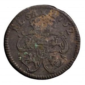 August III Sas, szeląg 1752
