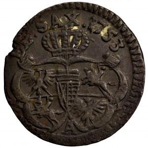 August III Sas, szeląg 1753 A