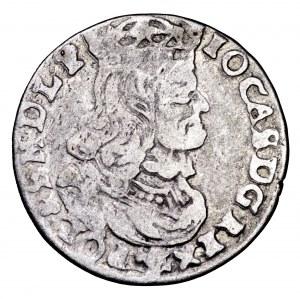Jan II Kazmierz, szóstak 1661 NG, Poznań - obwódka na rewersie