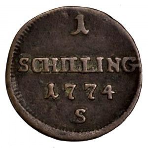 Ks. Oświęcimsko-Zatorskie, szeląg 1774 S, Smolnik