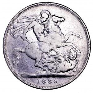 Wielka Brytania, Wiktoria, korona 1889