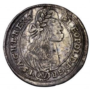 Węgry, Leopold I, 15 krajcarów KB