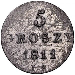 Księstwo Warszawskie, 5 groszy 1811 IS