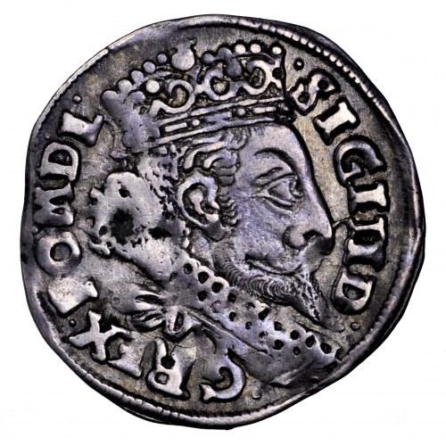 Zygmunt III Waza, trojak 1599, Bydgoszcz - Lewart bez tarczy