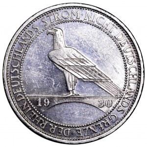 Niemcy, Republika Weimarska, 3 marki 1930 G, Rheinstrom - piękne