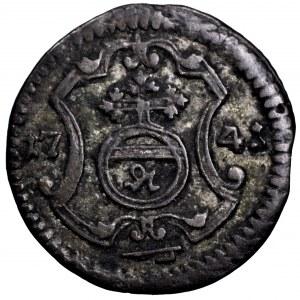 August III Sas, halerz 1741 FWoF, Drezno