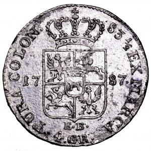 Stanisław Poniatowski, złotówka 1787 EB - ładna