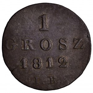 Księstwo Warszawskie, grosz 1812 IB