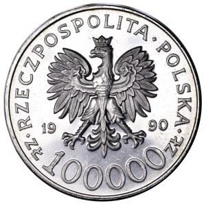III RP, 100000 zł 1990, Solidarność - typ A