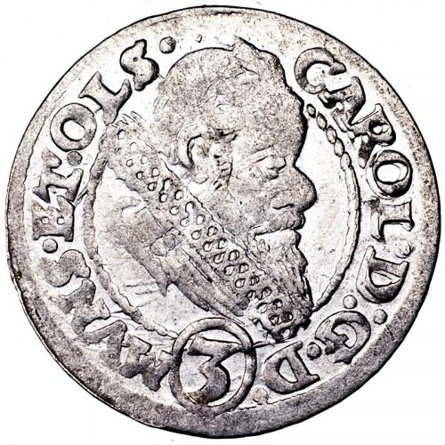 Śląsk, Karol II, 3 krajcary 1616, Oleśnica