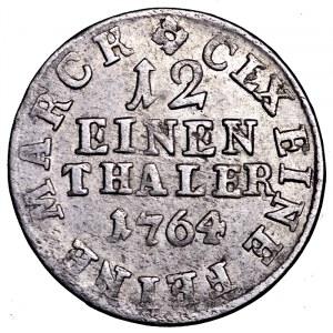 Niemcy, Saksonia, Fryderyk August III, 1/12 talara 1764 EDC, Drezno