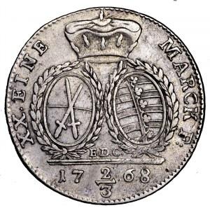 Niemcy, Saksonia, 2/3 talara (gulden) 1768 EDC, Drezno