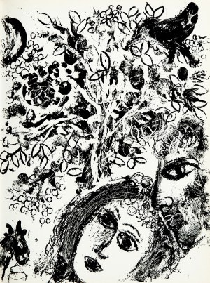 Marc Chagall (1887 - 1985), Le couple devant l'arbre