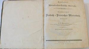 [Mrongowiusz Krzysztof Celestyn] Dokładny Niemiecko-Polski Słownik 1837