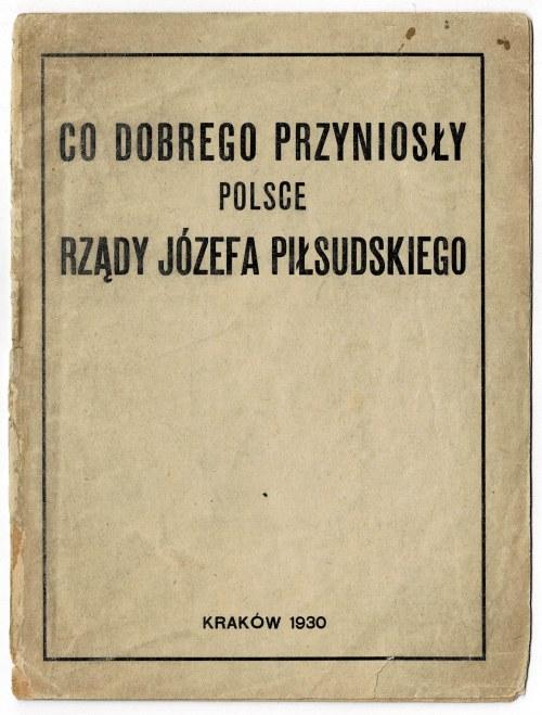 [Curiosum!] Co dobrego przyniosły Polsce rządy Józefa Piłsudskiego 1930
