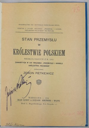 Stan przemysłu w Królestwie Polskiem według danych z r. 1910
