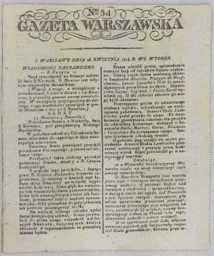 [Księstwo Warszawskie] Gazeta Warszawska 1807-1814