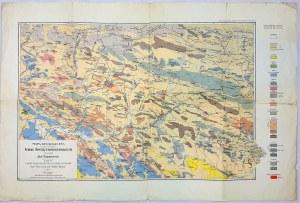 Mapa geologiczna środkowej części Gór Świętokrzyskich, Czarnocki 1919