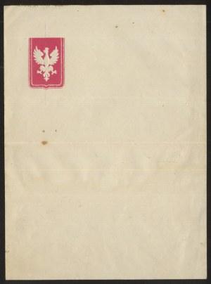 Ozdobny papier listowy, Orzeł Biały