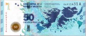 Argentina  50 Pesos 201 5Banknote.  KM...