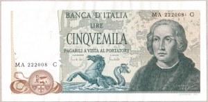 Italy  5000 Lire 1971 Banknote. 1971-05-20; KM...
