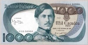 Portugal 1000 Escudos 1981 Banknote. Pedro V - Locomotive. P...