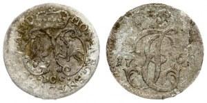Latvia Courland 1 Grosz 1763 ICS Mitawa. Ernst Johann Biron(1763-1769). Averse: Crowned