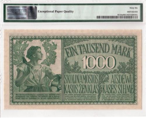 Lithuania German occupation 1000 Mark Kaunas. State Loan Bank East Pick# R134a CM ...