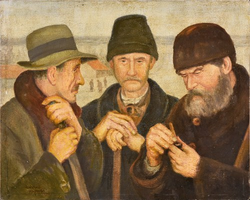 Wlastimil Hofman (1881-1970), Trzech wędrowców, 1948