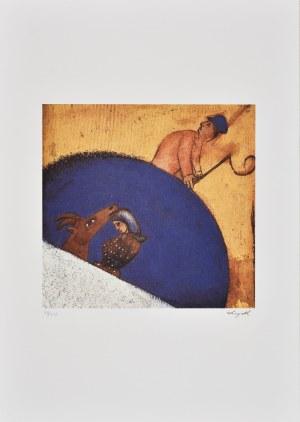 Marc Chagall (1887-1985), granolitografia / 33,5 x 35 cm [wymiary odbitki]