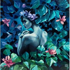 Izabela Gałązka, W moim ogrodzie przyglądam się kwiatom, 2020