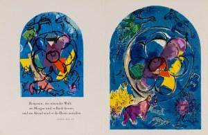 Marc Chagall, Prospekt książki Glasmalereien für Jerusalem, Andre Sauret, Monte Carlo, 1962