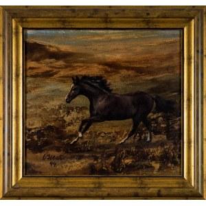 Marian OSIECKI, Galopujący koń, 1994 r.