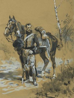 Kossak Wojciech, HUZAR WIELKIEJ ARMII, 1896