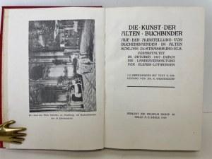 Westendorp Karl DIE KUNST DER ALTEN BUCHBINDER