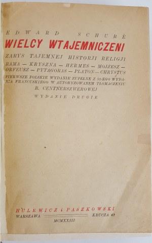 Edward Schure Wielcy wtajemniczeni