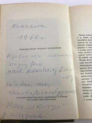 Krasiński Zygmunt, Pisma t. I-VIII [komplet w 9 wol.]