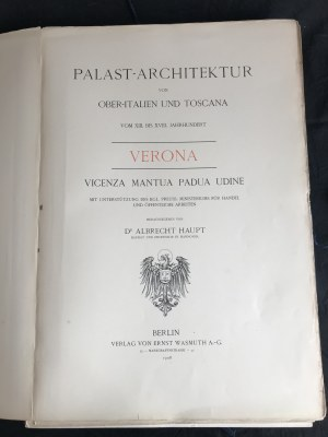Architektura pałacowa Północnych Włoch i Toskanii [100 tablic!]