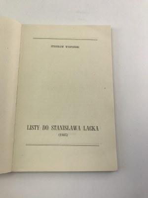 Wyspiański Stanisław Listy do Stanisława Lacka