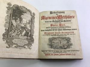 Baumgarten Siegmund Jacob Uebersetzung der Algemeinen Welthistorie [starodruk wydany w Dobrogórze!]