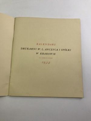Kalendarz Drukarni W. L. Anczyca i spółki w Krakowie 1938