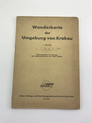 [Mapa wielobarwna, składana] Wanderkarte der Umgebung von Krakau 1943