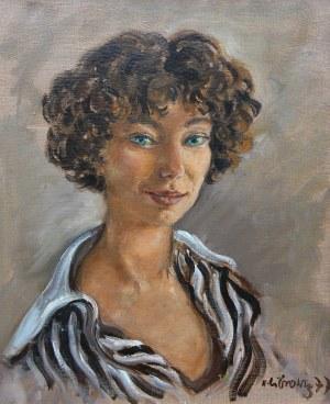 Katarzyna Librowicz (1912 Warszawa - 1991 Paryż), Portret kobiety, 1977 r.