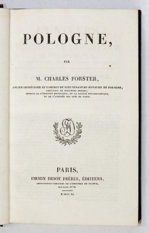 FORSTER C. - Pologne. Z 55 rycinami widokowymi i portretowymi.