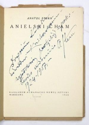 STERN A. – Anielski cham. Z dedykacją autora dla E. Kozikowskiego.
